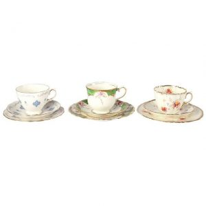 Dinnerware Ceramic Vintage Tea Cup Duo