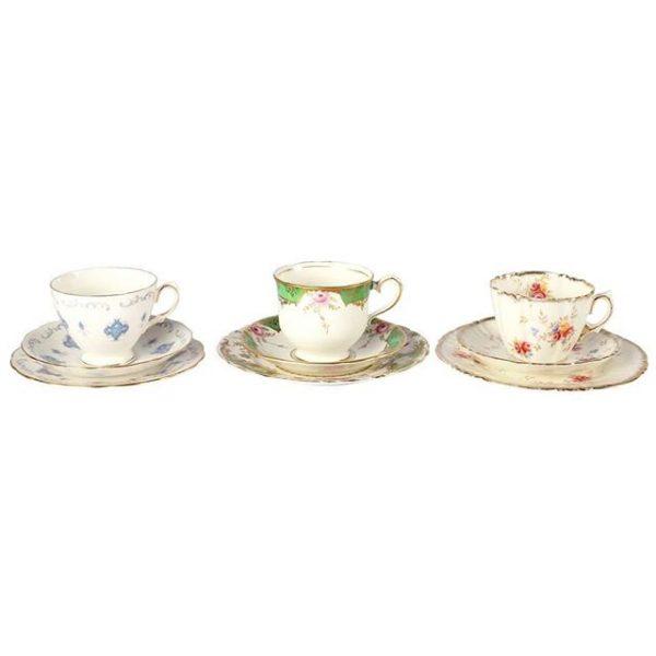 Dinnerware Ceramic Vintage Tea Cup Duo