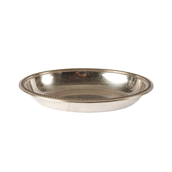Dinnerware Silver Bowl Dotted Edgex