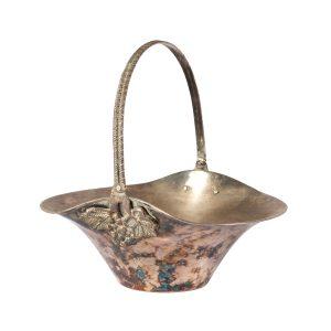 Dinnerware Silver Fruit Bowl Grape Handle
