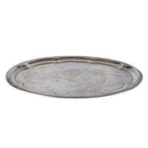Dinnerware Silver Tray Round Rippled cm