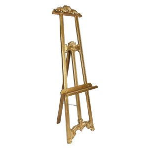 Easel Large Gold Wood