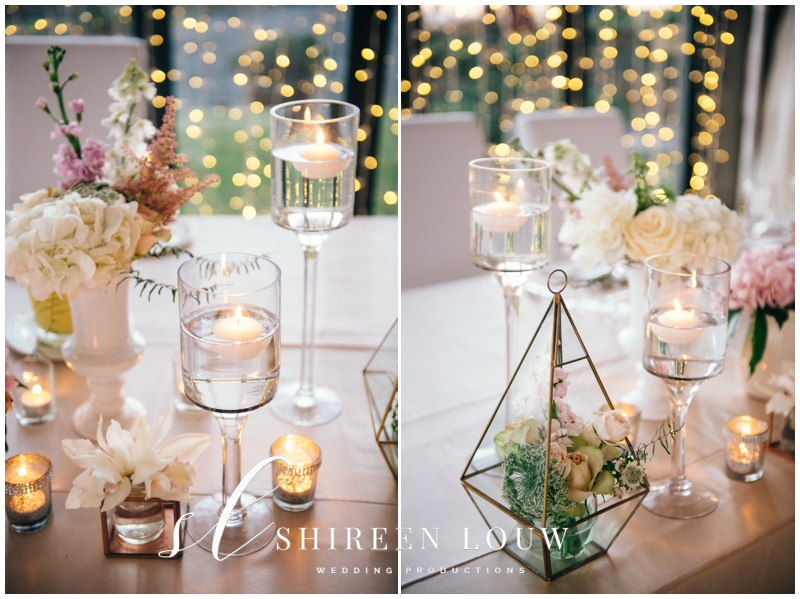 Fairy Lights Candles And Floral Terrariums Arrangements