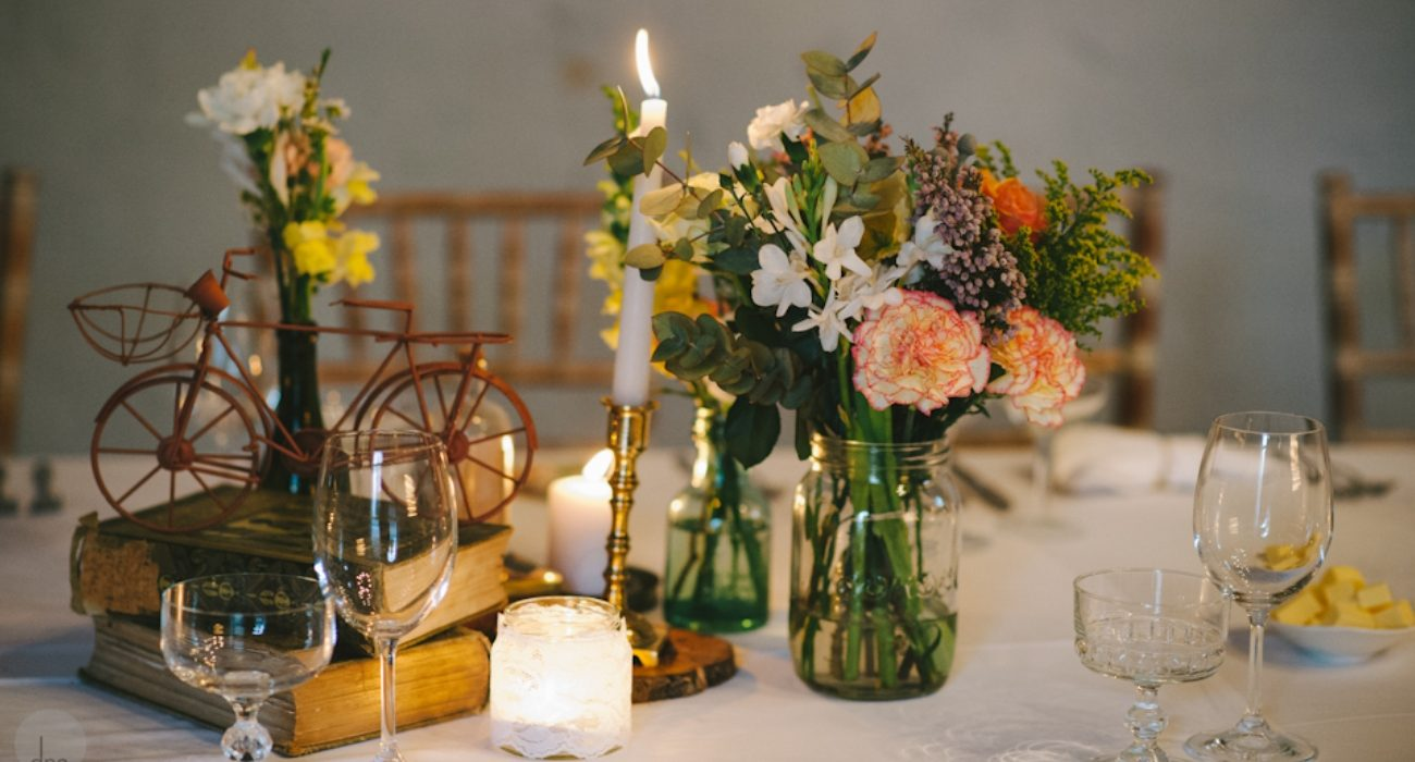 Floral Candle Table Arrangements