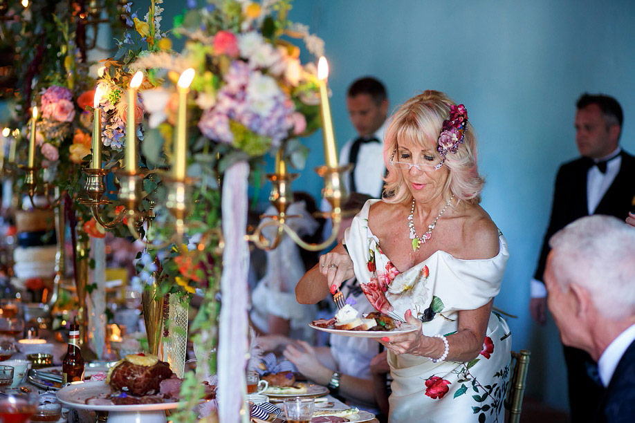 Food Buffet At Marie Antoinette Themed Wedding