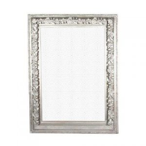Frame Silver Ornate Chicken Wire Inside