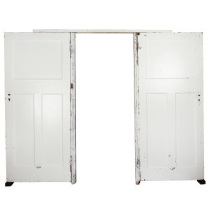 Furniture Door Double Donald White with Beam