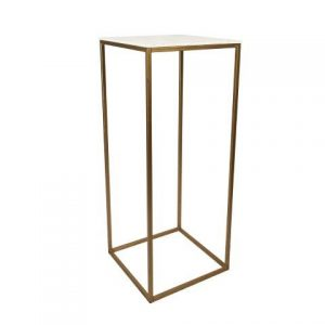 Furniture Gold Metal Plinth Large