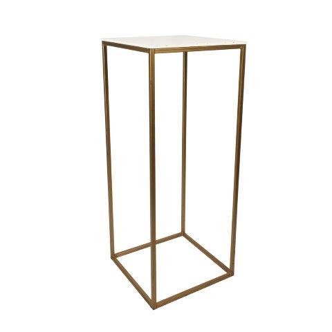 Furniture Gold Metal Plinth Large