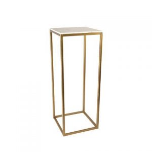 Furniture Gold Metal Plinth Medium