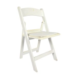 Furniture White Wimbledon Chair with Cushion