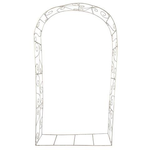 Gazebos and Arches Arch White Metal flowers excl