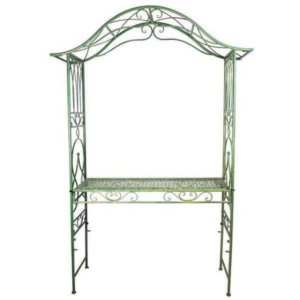 Gazebos and Arches Green Arch with Benchx
