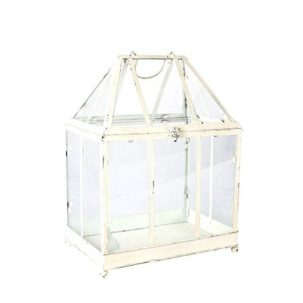 Gifts and Cards, Glass Metal White Box Large