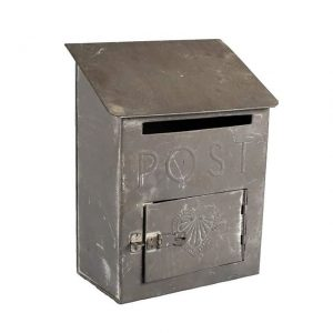 Gifts and Cards Grey Postbox Smallx