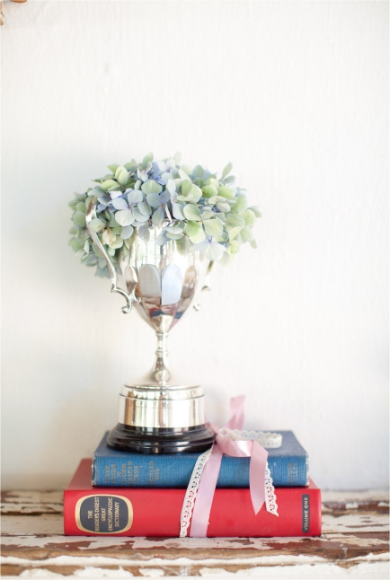 Hydrangea Wedding Trophy Centrepieces