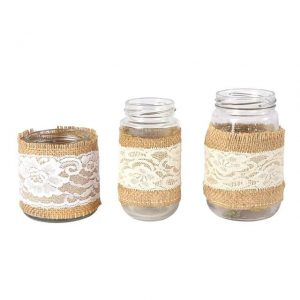 Jar Hessian and Lace Mixed