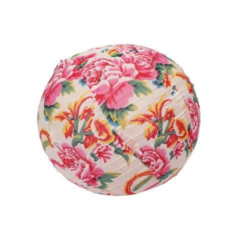 Lantern Fabric Pink Blue Floral Round cm