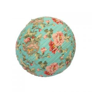 Lantern Fabric Teal Floral Round cm