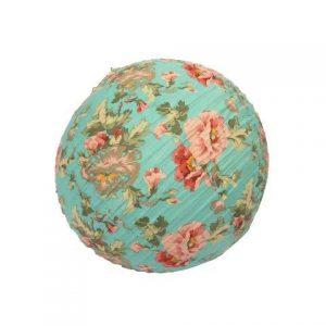 Lantern Fabric Teal Floral Round cm