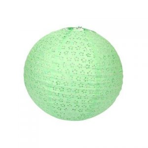Lantern Paper Green Pattern Large cm