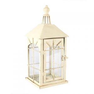 Lanterns Cream Metal Square Large