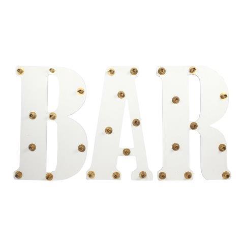 Light Letters BAR cm