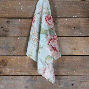 Linen Napkin Floral Mint Peach
