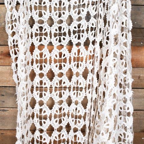 Linen Runner Crochet Mixed Sizes