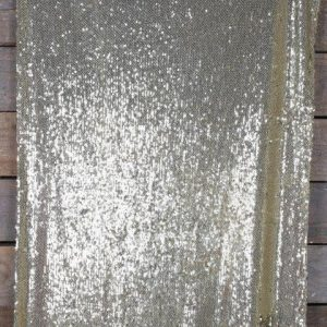Linen Runner Sequin Goldcm