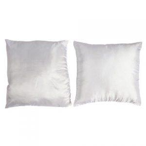 Linen Scatter Cushions White Satin