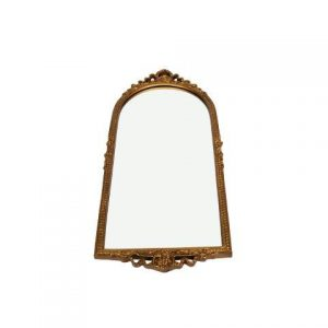Mirror Ornate Gold Rose with Bow Detail