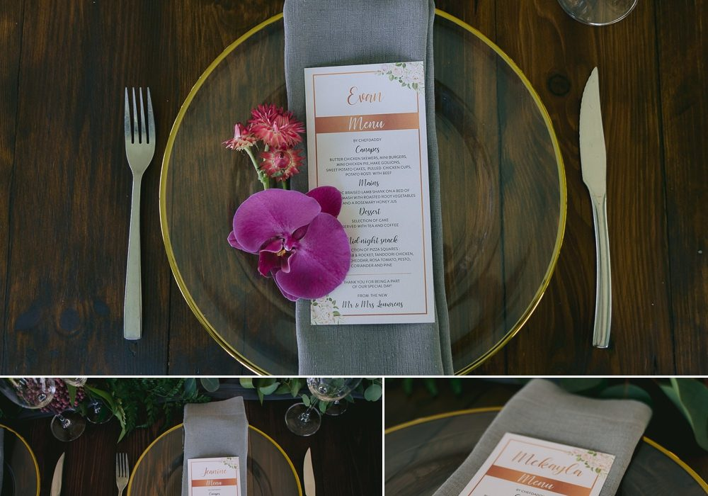 My Pretty Vintage Dinning Arrangements At Wedding Reception