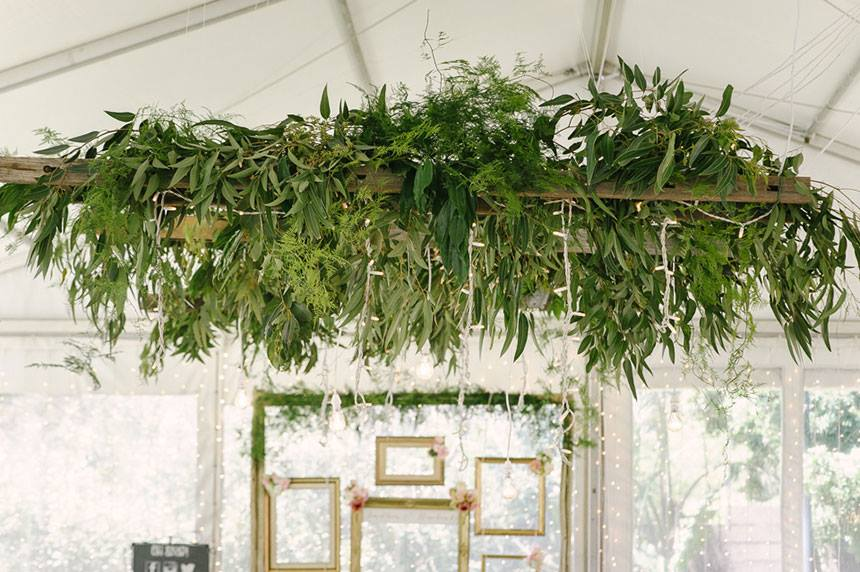 My Pretty Vintage Greenery Installation For Your Wedding