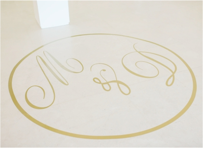 My Pretty Vintage Wedding Floor Decor Decal