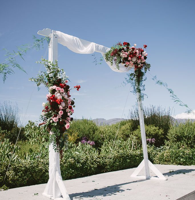My Pretty Vintage Wedding Floral Arch