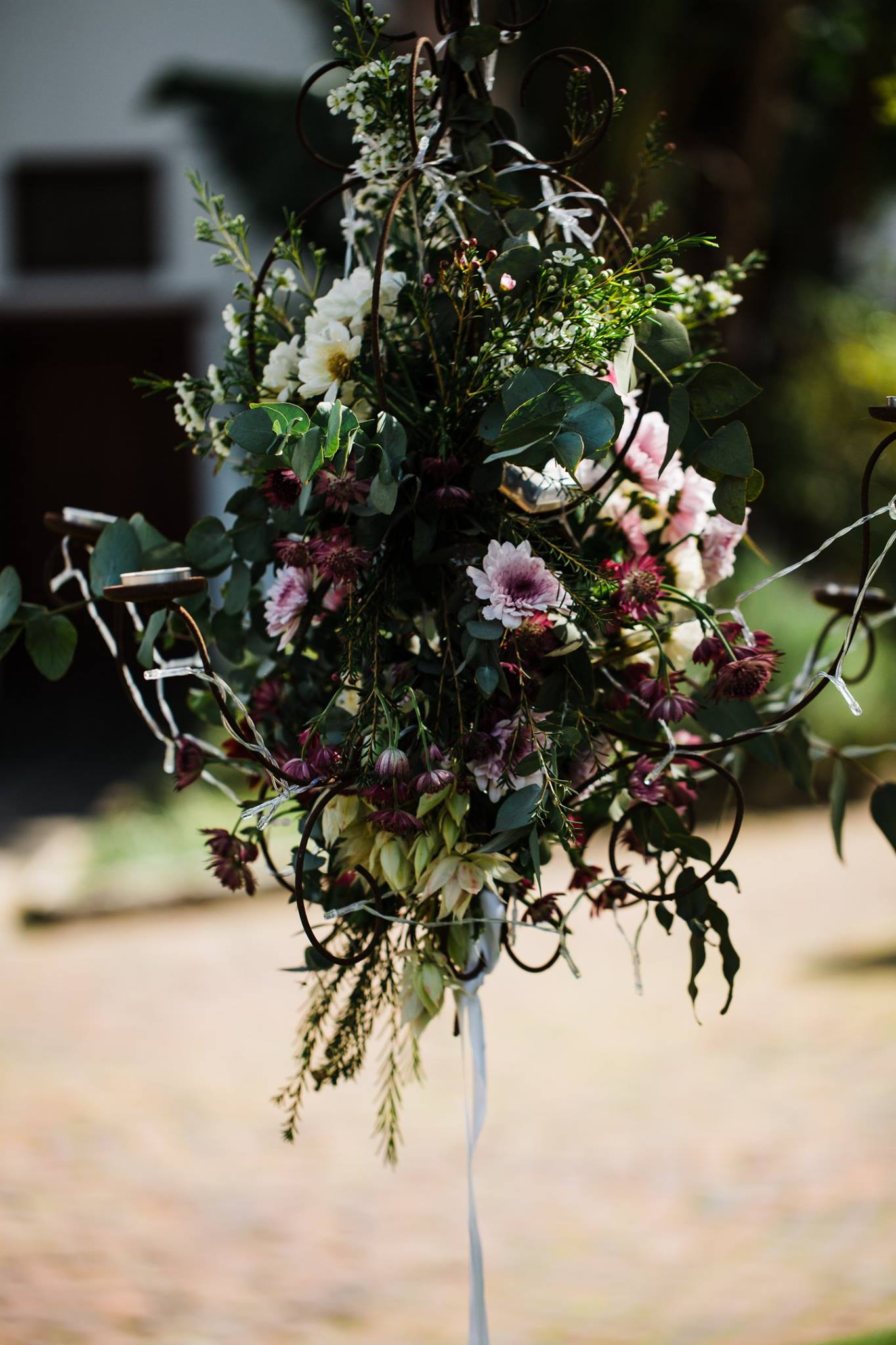 Outdoor Hanging Wedding Basket