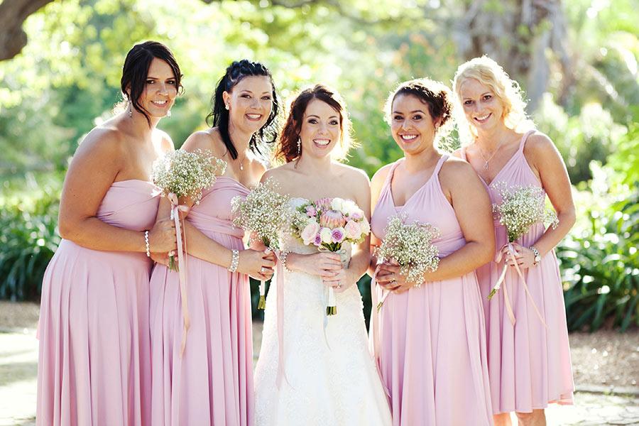 Pastel Shades Bride And Brides Maids