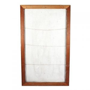 Peg Board Wood Frame with Hessain