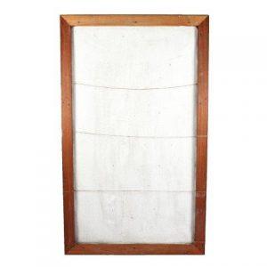 Peg Board Wood Frame with Hessain