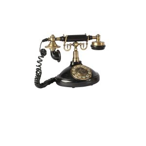 Prop Antique Telephone Gold Black