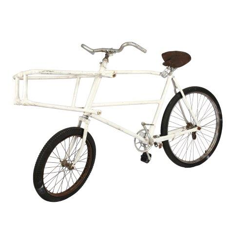Prop Bicycle White Butchers with Basket