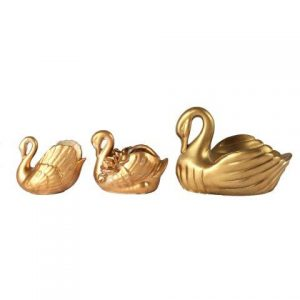 Prop Bird Swan Gold Trio