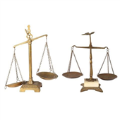 Prop Scales Brass Hanging cm
