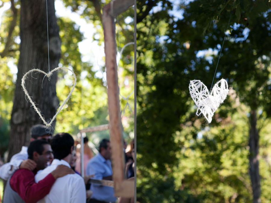 Relaxed Weddings Wicker Hanging Hearts