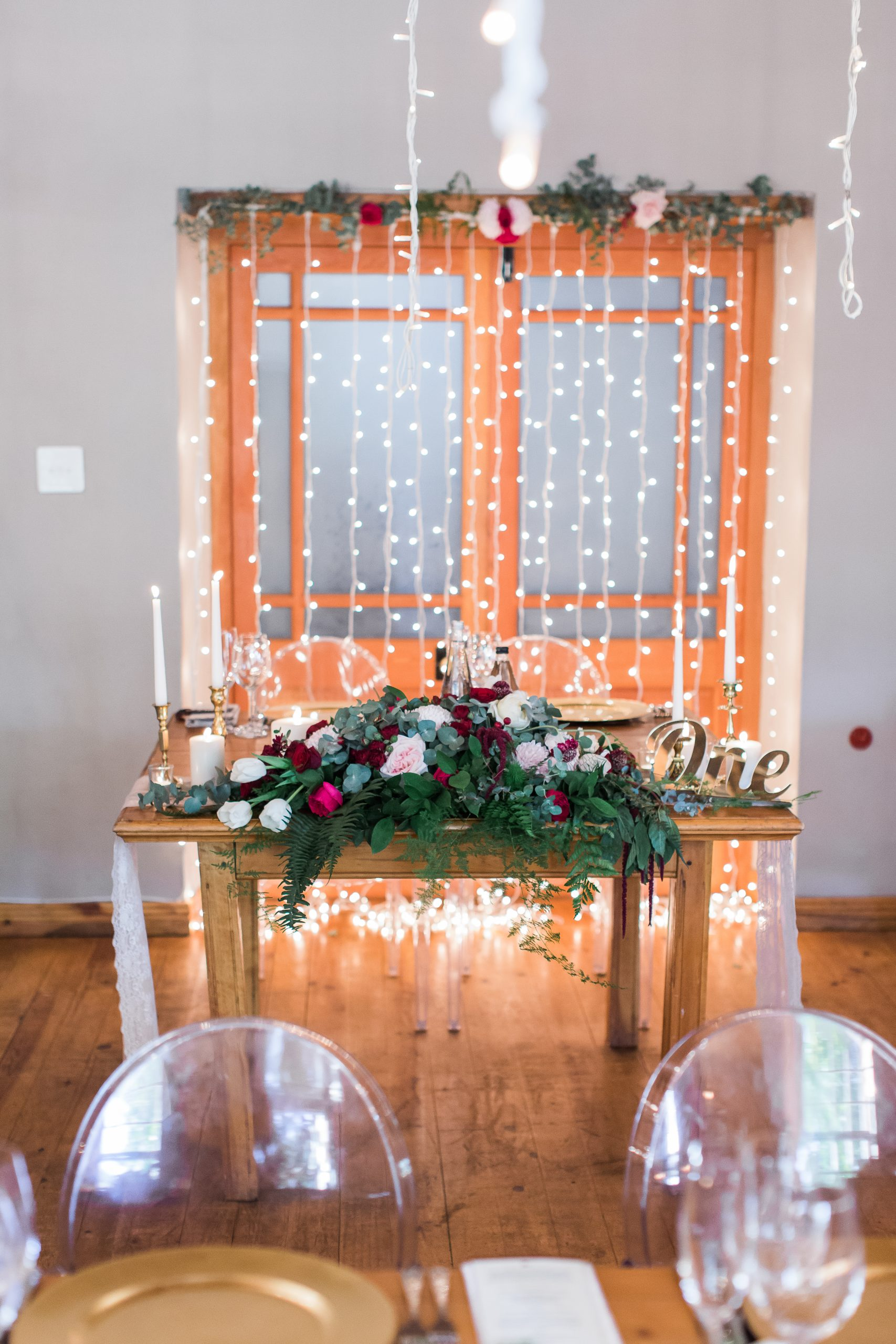 Romantic Wedding Backdrops With String Lighting scaled