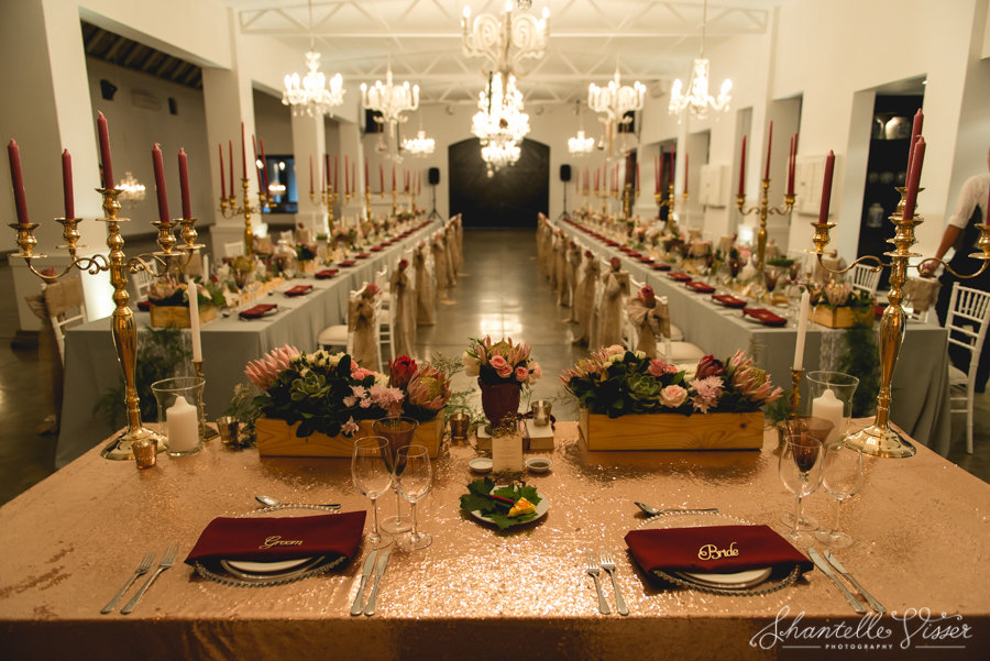 Seating arrangements at reception