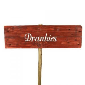 Sign Dark Wood Drankies No Arrow