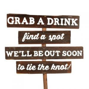 Sign Dark Wood Grab A Drink Find A Spot
