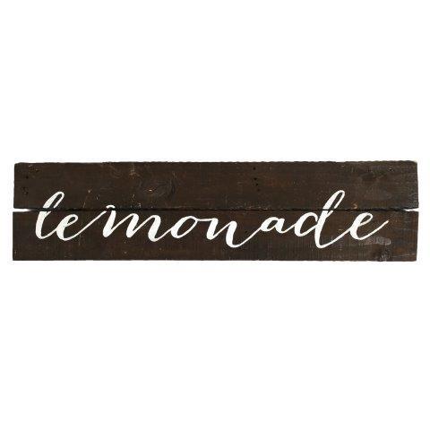 Sign Dark Wood Lemonade Hanging